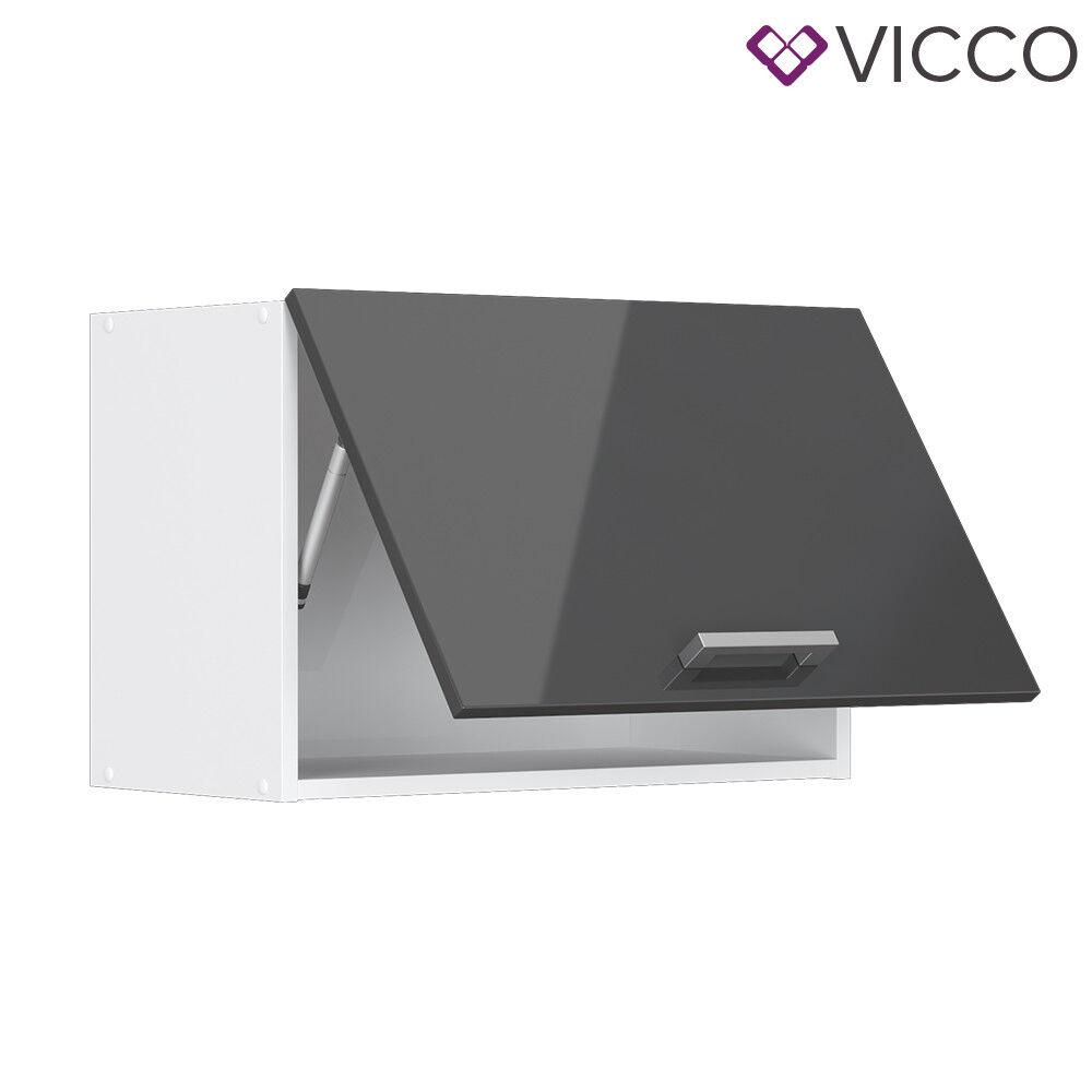 VICCO Küchenschrank Hängeschrank Unterschrank Küchenzeile R-Line Hängeschrank 60 cm (flach) anthrazit