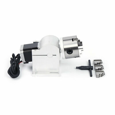 80mm Cnc Chuck Rotary Axis For Laser Engraving Cutting Machine Rotating Fixture