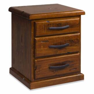 2 x BEDSIDES SOLID PINE DISTRESSED FINISH