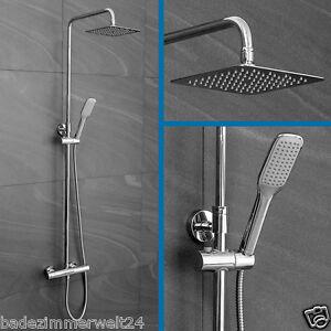 duschsystem duschs ule regendusche mit thermostat eco funktion ebay. Black Bedroom Furniture Sets. Home Design Ideas