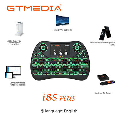 I8S Wireless Mini Keyboard Backlight Air Touchpad For Android TV Box,PC,PS4 Game
