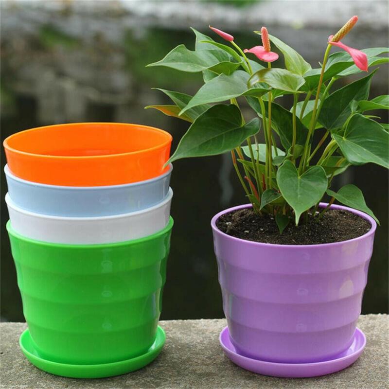 50PCS Mini Flower Pot Succulent Planter Holder Plastic Desktop Flowerpot Decor