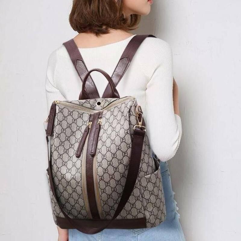 Damen Rucksack Leder Damentasche Handtasche Übergröße Schultertasche DE