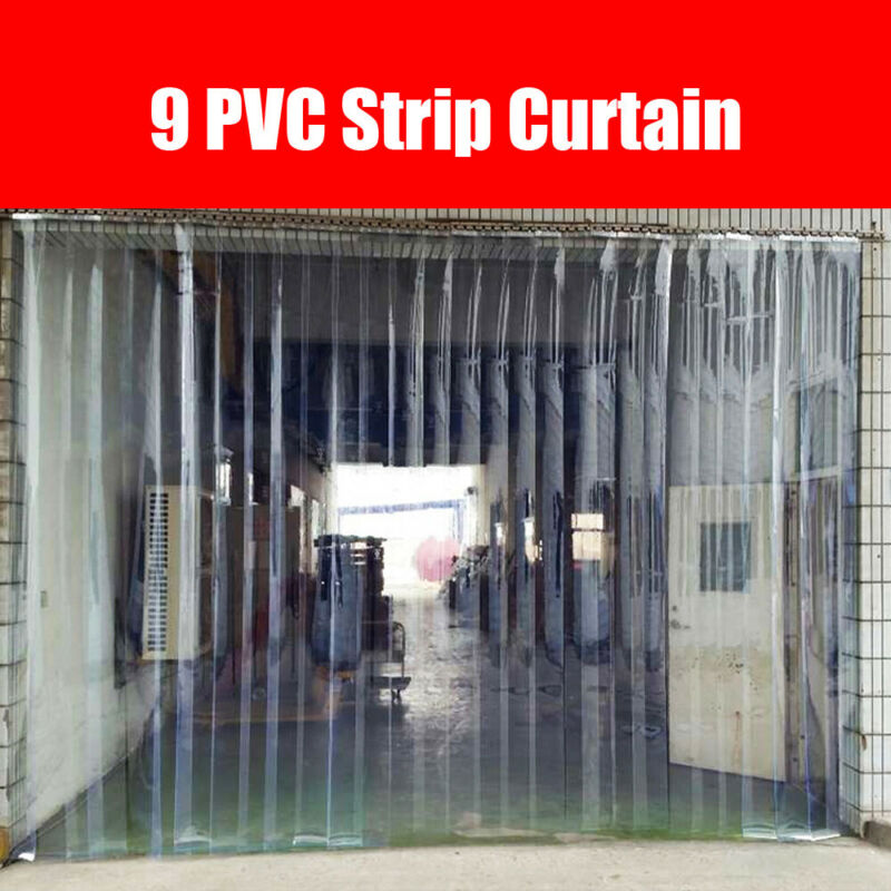 "Strip Curtain 6"" Wide x 6.8 feet Cooler Freezer PVC Clear door Isolating Effect"