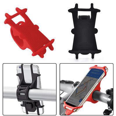 Bike Phone Mount Holder Universal Silicone Adjustable Cradle Clamp Non-Slip