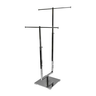 Chrome Adjustable 2 Tier Jewelry Stand Retail Store Display Fixture