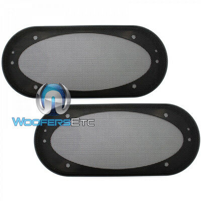 """(2) UNIVERSAL 4""""x10"""" SPEAKER COAXIAL COMPONENT PROTECTIVE GRILLS COVERS NEW PAIR for sale  Shipping to India"""