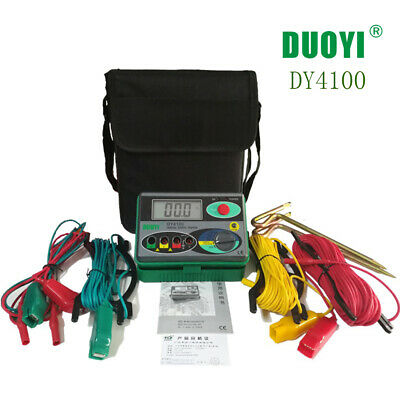Dy4100 Digital Earth Ground Resistance Testermeter 0-2000ohm Lcd Display Meter