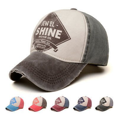Old School Trucker Hats (Vintage Distressed Baseball Cap Men Women SHINE Trucker Old School Peaked)
