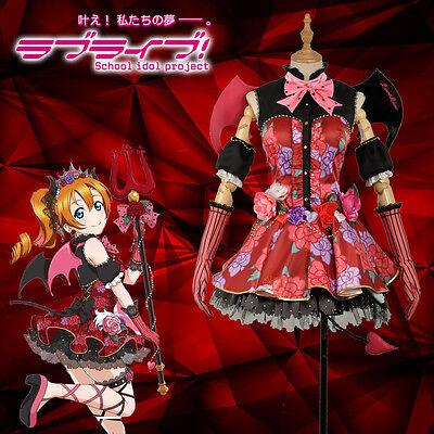 Sif Kostüme (Love Live SIF Cosplay Honoka Kousaka Costume Little Devil Demon Awakening Custom)