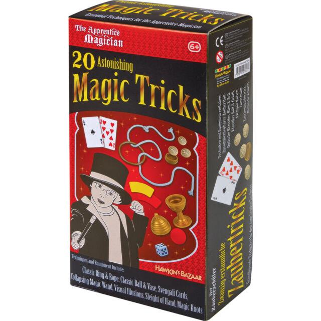 CHILDRENS 20 ASTONISHING MAGICIANS MAGIC TRICKS BEGINNERS TOY SET 13100