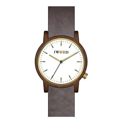 Walnuss Echtholz Herrenuhr Armbanduhr für Herren aus echtem Holz braun