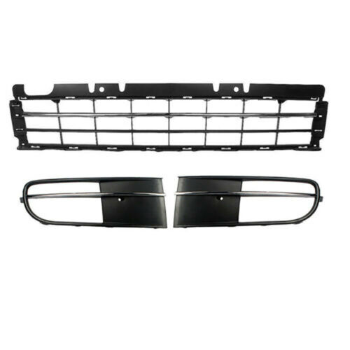 Pair Chrome Front Bumper Grill Fog Light Foglamp Grille Fit For VW Beetle 12-16