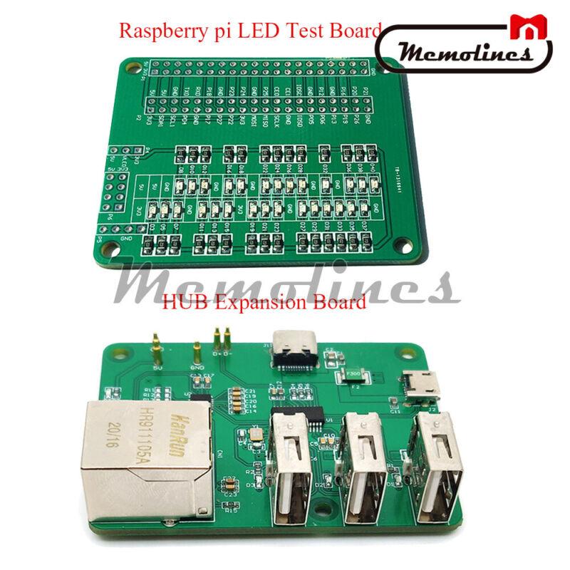 Usb To Ethernet Hub Board /led Light Io Test Development Board For Raspberry Pi