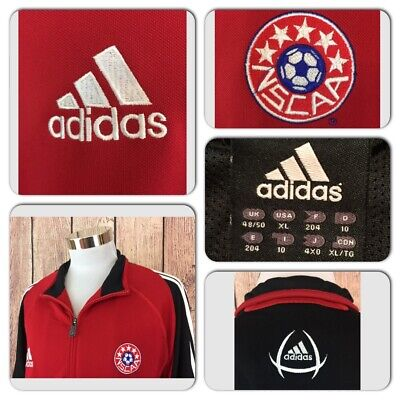 EXC COND ADIDAS MENS XL CLIMACOOL NSCAA SOCCER VENTED FULL ZIP ATHLETIC  JACKET 475c2b7d7aa