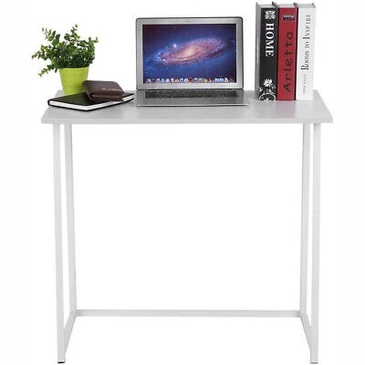 White Foldable Computer Desk Gaming Writing Study Working Table for Home Office