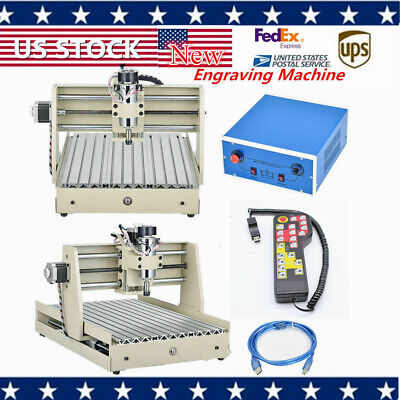 400w 3 Axis 3040 Cnc Router Engraver Carving Milling Machine With Handwheel New