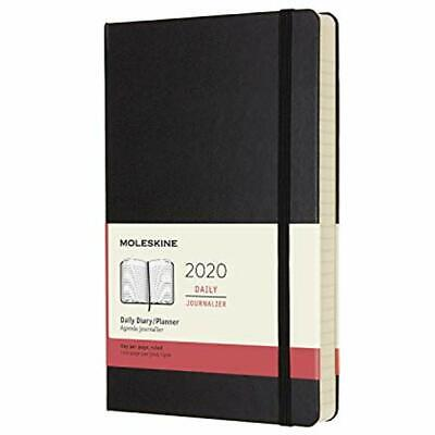 Classic 12 Month 2020 Daily Planner, Hard Cover, Large  Blac
