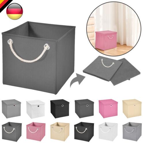 Faltbox Aufbewahrungsbox Spielzeugkiste Kiste Faltschachtel Deckel Korb Boxen