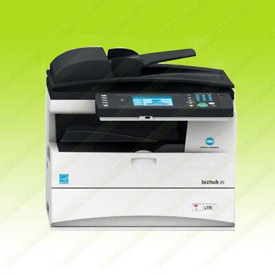Konica Minolta Bizhub 25 Laser Mono Bw Printer Scanner Copier 25ppm A4 Mfp