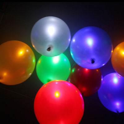 100-200pack LED Helium Air Mixed color Balloon Wedding Light Up Decoration Party](Lighted Helium Balloons)