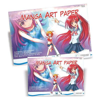 Schoellershammer 75 Blatt DIN A4 Manga Art Paper Mangapapier 75g/m² Zeichenblock
