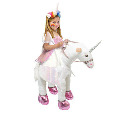 Kids On Halloween Costumes (Kids Animal Unicorn Horse Halloween Fancy Dress Up Carry Me Ride On)