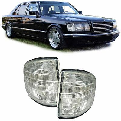Blinker Weiss Paar für Mercedes S-Klasse W126 Limousine 80-91