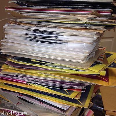 """Job Lot of 10 x 7"""" Vinyl Single Records Classic Rock + Heavy Metal Random Mix"""