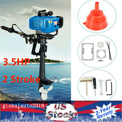 2.5kw 3.5hp 2stroke Heavy Duty Outboard Motor Boat Engine Cdi-system Air Cooled