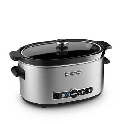 KITCHENAID Stainless Steel Slow Cooker 6 qt Digital 4 Setting Programmable Timer