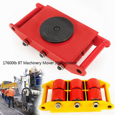 Heavy Duty Machine Dolly Skate Machinery Roller Mover Cargo Trolley 8t Warehousi