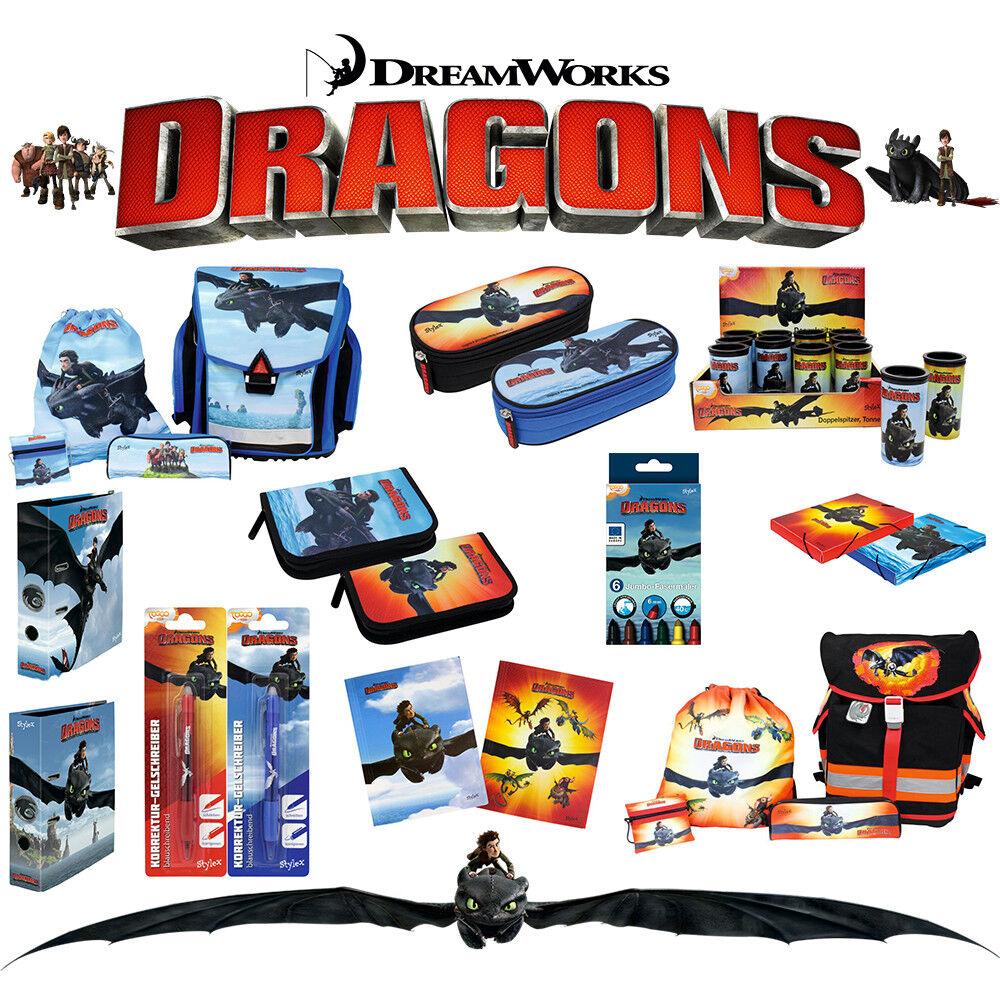 DRAGONS  Schulranzen Set  * Drachenzähmen leicht gemacht 2 *