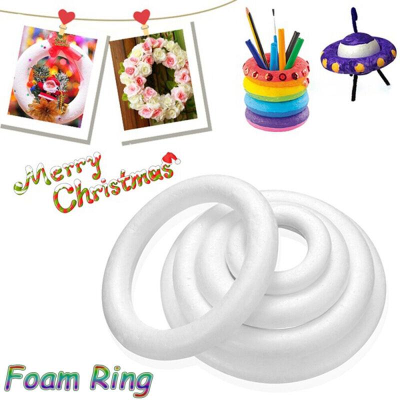 polystyrene styrofoam foam ring halfring for handmade