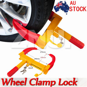 New Wheel Lock Clamp Security Anti-theft For Vehicle Car Trailer with 3 Keys ZNU