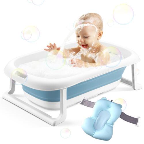 Baby Bathtub, Foldable Infant Bath Tub Newborn Toddler Bath Cushion