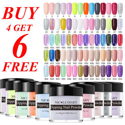 Nail Art Starter - NICOLE DIARY 10ml Glitter Dipping Powder Natural Dry Nail Art Starter Kit