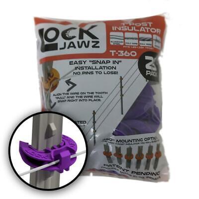 Lockjawz 25pk Electric Fence T Post Insulators - Purple T-360