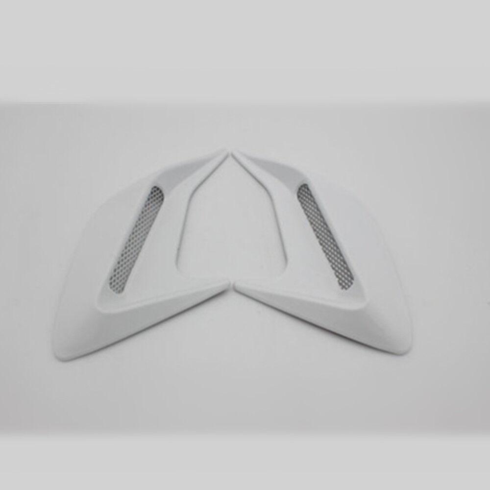 2PC White Plastic Car Auto Decorative Side Vent Air Flow Fender Intake Stickers