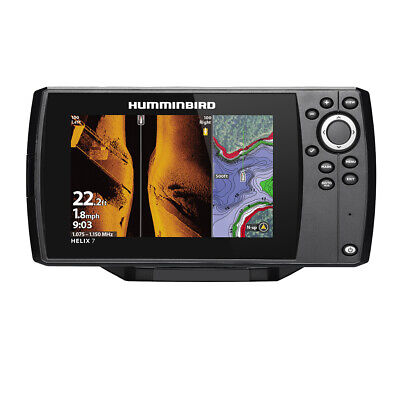 Humminbird HELIX 7 CHIRP MEGA SI Fishfinder/GPS Combo G3 w/Navionics+ & Trans...