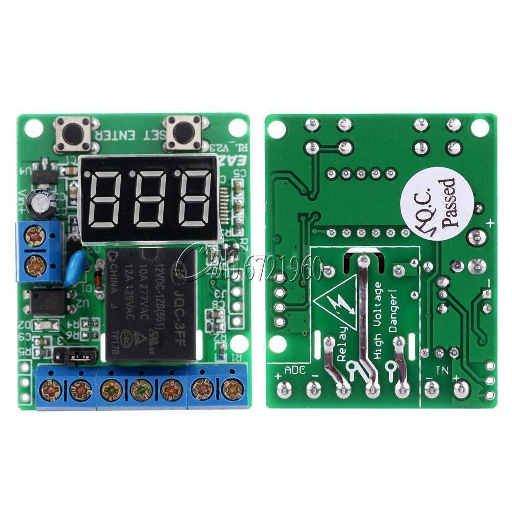 V Voltage Detection Charging Discharge Monitor Relay Switch - Switching voltage in relay