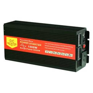 Pure Sine Wave 1500W Max 3000W 12V-230V Power Inverter Car Cara