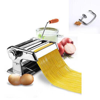 الة صنع المعكرونة جديد Stainless Steel Fresh Pasta Maker Roller Machine for Fettuccine Spaghetti Noodle