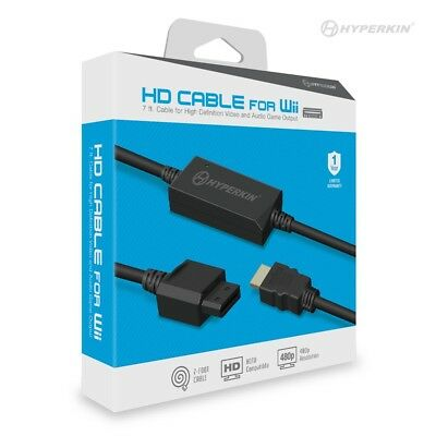 Hyperkin Wii HD 7ft Cable HDMI Connector for Nintendo Wii Game Console for sale  Shipping to India