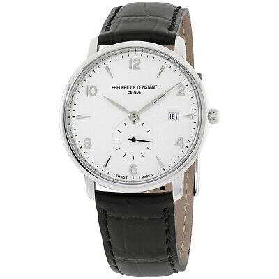 Frederique Constant Slimline Silver Dial Leather Strap Men's Watch FC245SA5S6