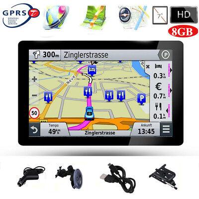 DE 7 Zoll LKW PKW KFZ GPS Navigationsgerät POI Navigation Navi 8GB Europa Karten