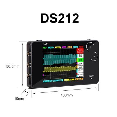 Arm Stm32 Ds212 Ds212 Dso Touch Nano Mini Pocket Digital-oscilloscope