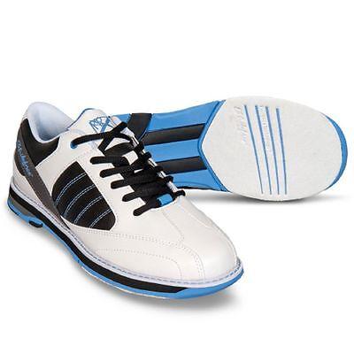 New Women's KR Strikeforce Mist White/Black/Blue Bowling Shoes Size 6