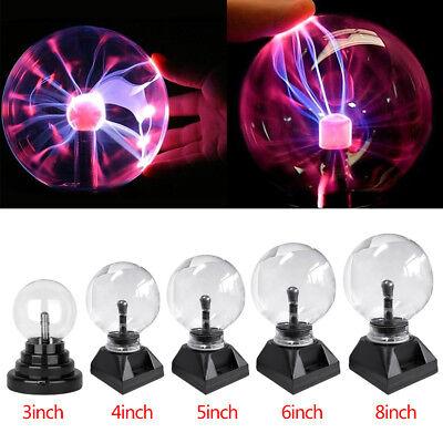 3 4 5 6 8  Magic Plasma Ball Sphere Lightning Crystal Globe Touch Nebula Light