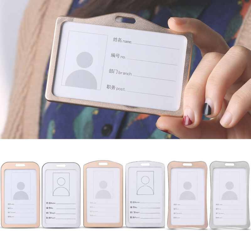 d15de56aa800 Details about Tag Metal Lanyards Aluminum Alloy Work Card Holders Name Card  ID Business Case
